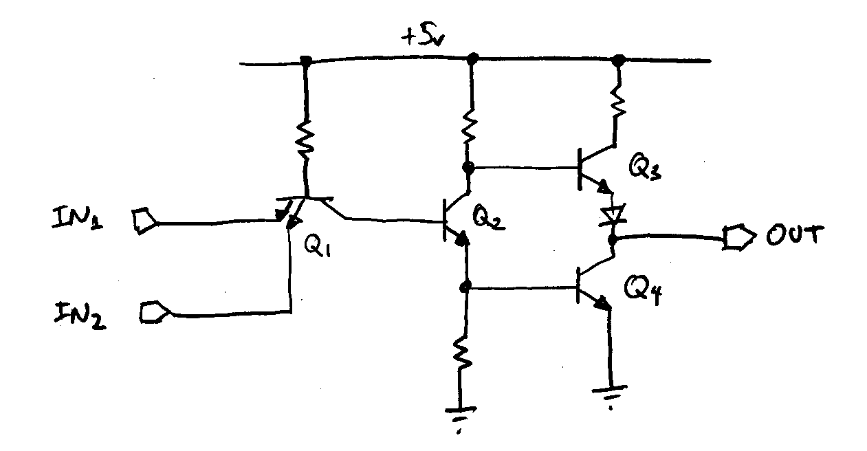 World News Newspapers Channels 91305 Assignment This Is A Transistor Logic Ttl Or Gate Circuit Using 3b Circuits